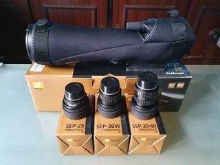 Telescopio Nikon Prostaff 82-A mas trípode Tokura