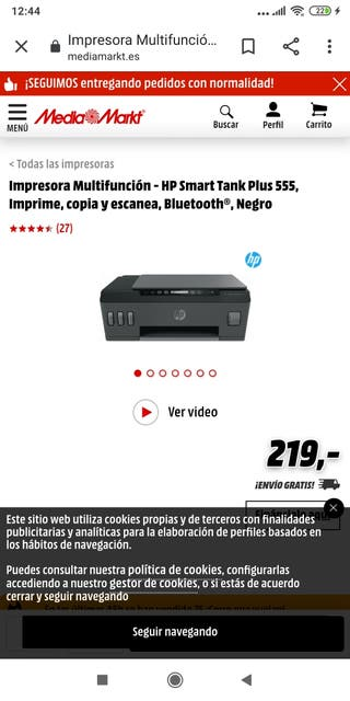Impresora HP tank 555