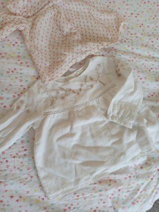 pack 2 blusas primavera Zara talla 9-12