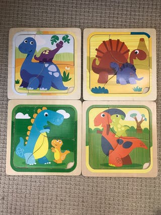 4 Dinosaurs puzzles