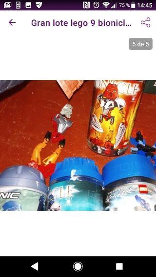 Gran lote 9 lego bionicle y 2 dinosaurio