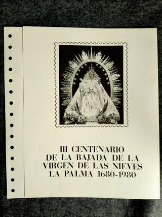 Virgen de Las Nieves La Palma, sello bajada