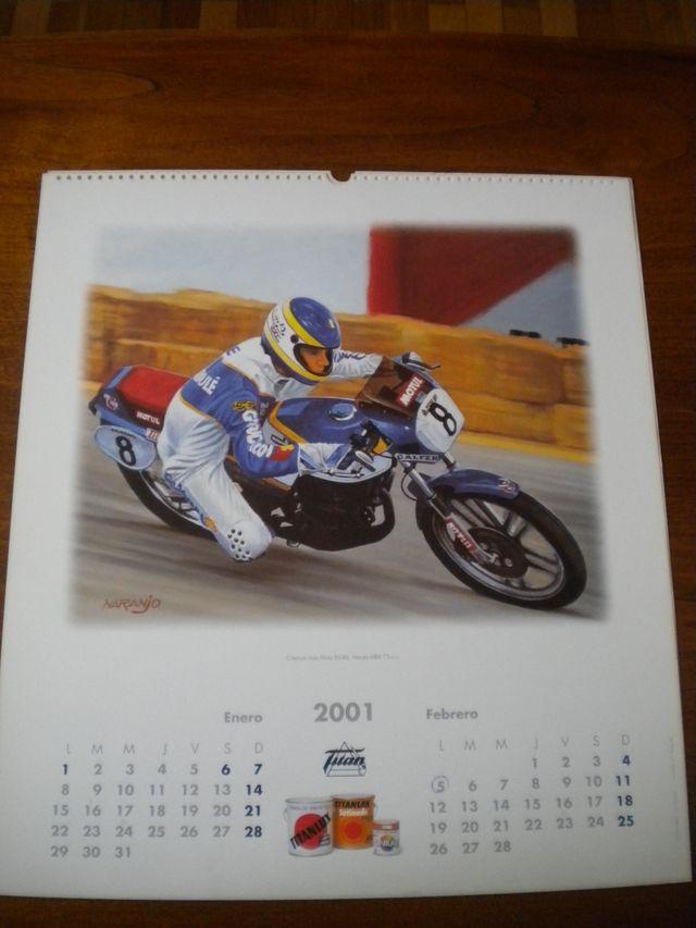 Calendario Alex Crivillé 2001.