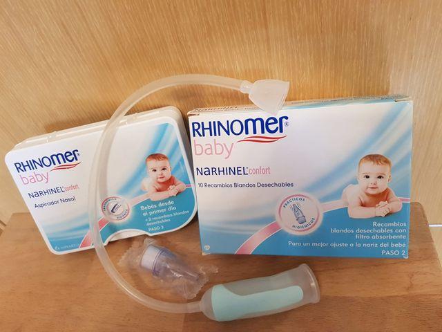 Aspirador Nasal Narhinel Confort 0m+ y caja de 10