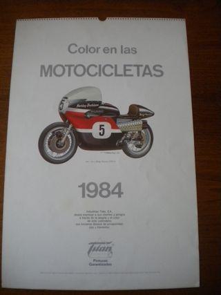 Calendario color en las motocicletas.