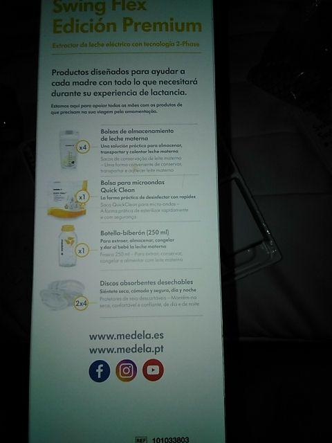 Extractor de leche Medela. Eléctrico y manual.