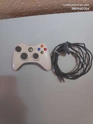 mando de xbox 360 + cable carga y juega