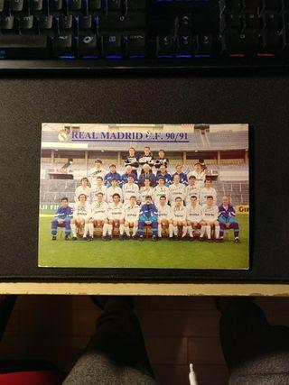 Postal Real Madrid 90/91