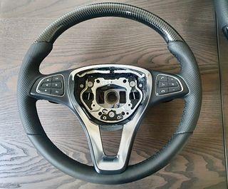 Volante Mercedes de carbón natural