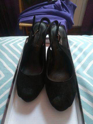 Zapatos Negro tacón mujer