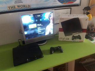 PACK    Play Station 3 120gb + Monitor + 3 Juegos