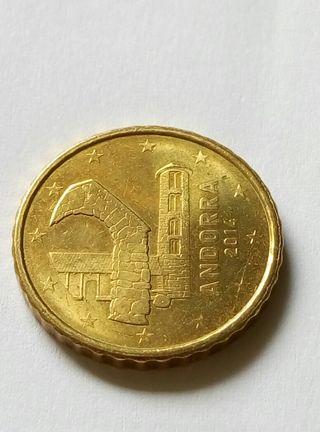 Moneda de 10 céntimos Andorra.