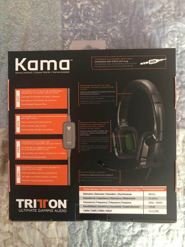 Auriculares Tritton Kama PS4 XBOX ONE SWITCH