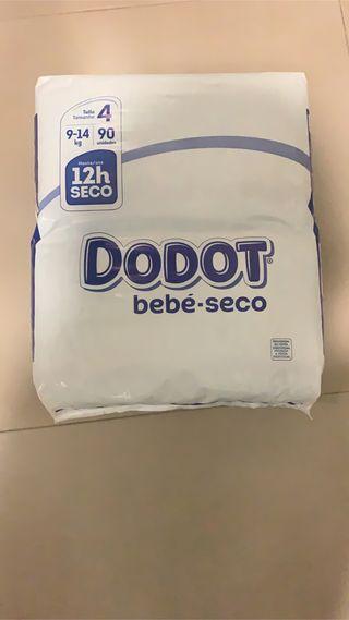 Pañales Dodot bebe seco talla 4 (9-14kg)