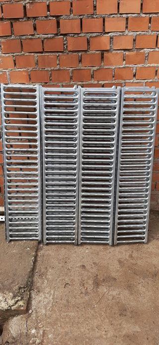 rejillas de chapa galvanizadas de 1mx023