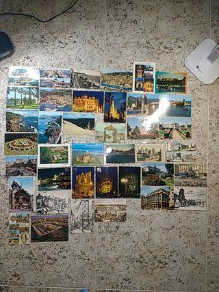 Lote de 39 postales de Francia