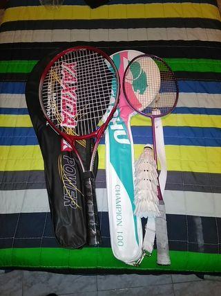 Raqueta de tenis y de badminton