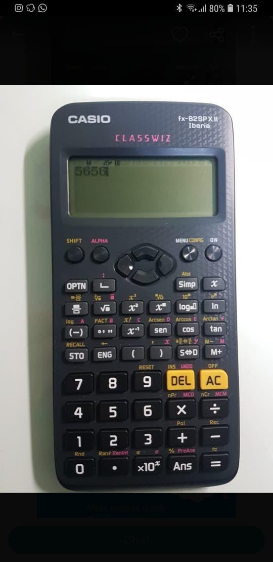 Calculadora casio fx-82SP X Iberia