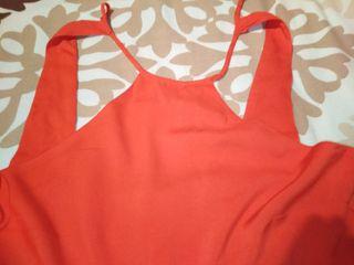 vestido original rojo. Mango. talla M.