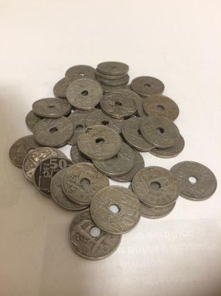 Monedas antiguas y billetes españoles
