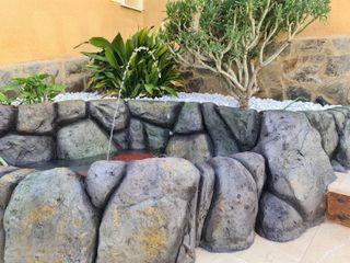 cascadas, piscinas, jacuzzis