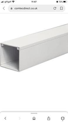 schneider electric midi trunking 50x50mm 3m