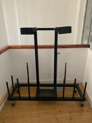 Mueble hierro para barras Body Pump