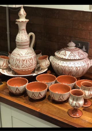 Traditional Moroccan Pottery Soupiére Tureen