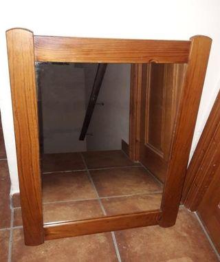 Espejo rústico de madera maciza