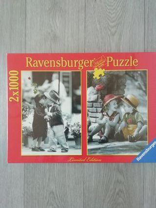 Puzzle sin abrir. Precintado. 2 x 1000 piezas.