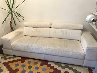 Sofá 3 plazas blanco. Oportunidad
