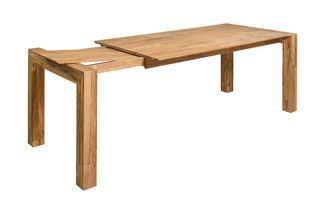 Mesa de comedor extensible roble madera maciza 100