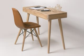 Mesa oficina madera maciza roble escritorio nordic