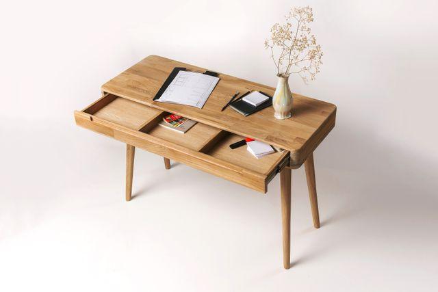 Escritorio tocador nordico madera maciza roble 100