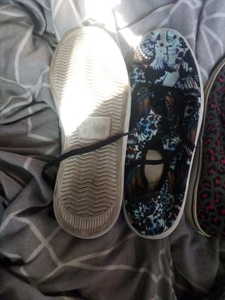 butterfly design plimsoll shoes