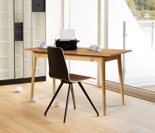 Escritorio escandinavo madera maciza roble nordico