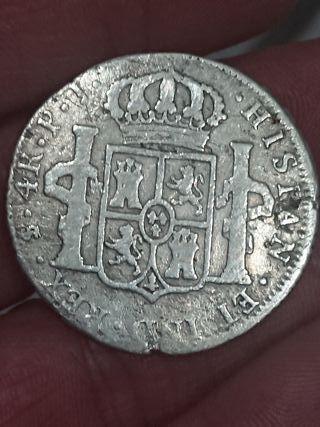 Moneda de 4 reales de 1816 de plata