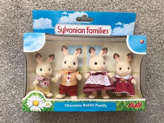 Sylvanian Chocolate Rabbit Family COLLECTABLES