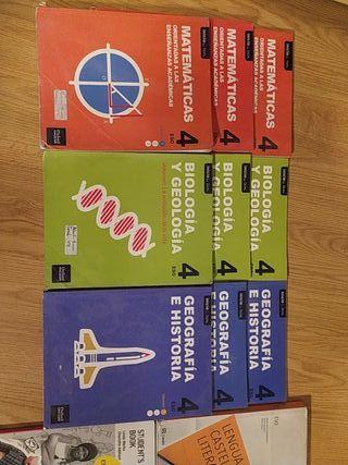 Vendo libros de 4 de la ESO