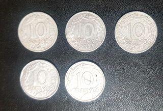 MONEDAS 10 CENTIMOS FRANCO 1959