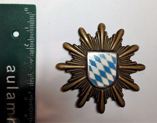 Insignia de Gorra Policía Alemana de Bayern 1950's