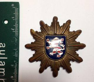 Insignia de Gorra Policía Alemana de Hessen 1950's