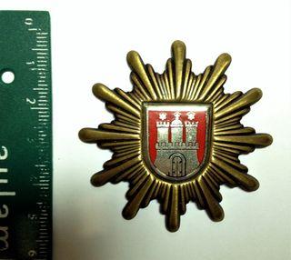 Insignia d Gorra Policía Alemana d Hamburgo 1950's