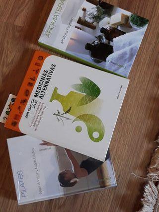 3 libros sobre Pilates, Aromaterapia y Guía