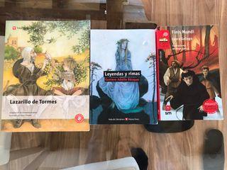 Pack de tres libros en castellano de secundaria