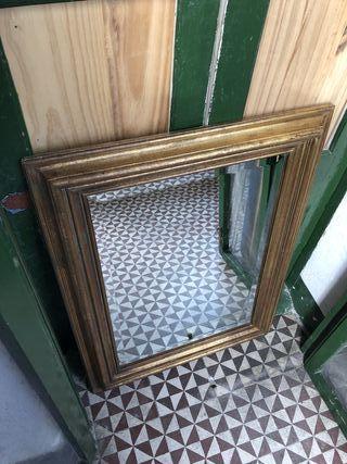 espejo antiguo pan de oro