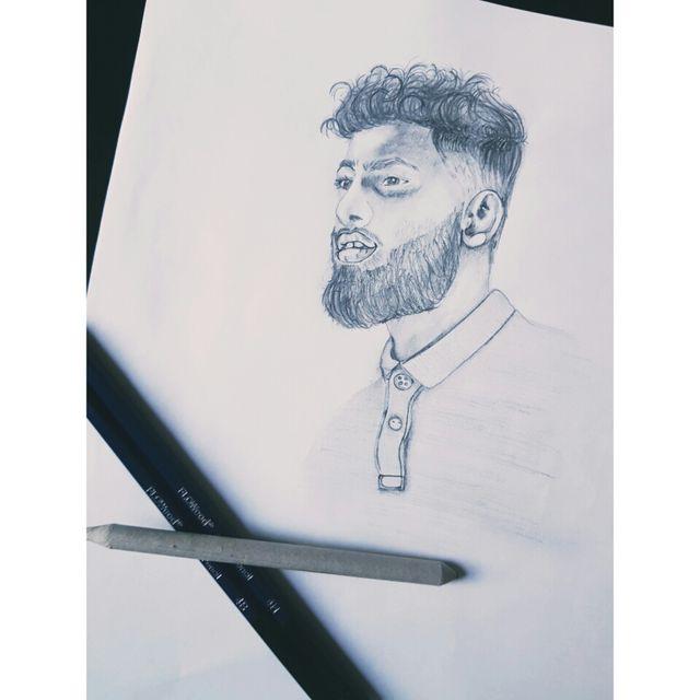 One person custom pencil portraits