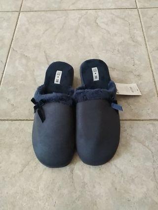Zapatillas mujer para casa, 38.