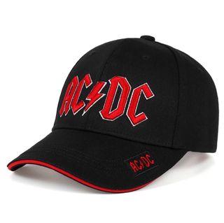 Gorra Negra y Roja AC DC NUEVA