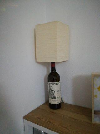 Lámpara botella vino